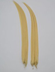 "18 ""Menschenhaar 100strand / 100 g Mikro-Ring Haarverlängerung"