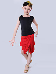Latin Dance Latin Dance/Performance Outfits Children's Performance/Training Polyester Tassel Outfit Multi-color Kids Dance Costumes