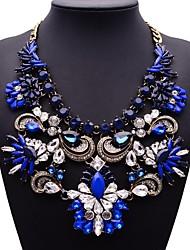 gema azul do arco-íris colar de jóias de moda feminina