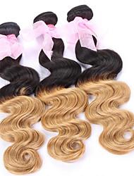 """3pcs / lot 8 """"24"""" brasilianisches reines Haar 1b / 27 # ombre brasilianische Körperwelle Haar"""