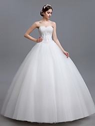 Ball Gown Petite Wedding Dress Floor-length Sweetheart Tulle with
