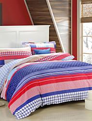CloverLove 100%Cotton Four-piece Suit LY14011,Bedding Bag:200*230cm,Bed Sheet:230*250cm,Pillowcase:48*74cm