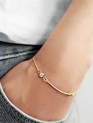 Femme Chaînes & Bracelets Zircon Simple Style Doré Bijoux 1pc