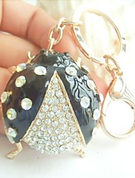 Ladybug Keychain Bags Handbags Pendant With Clear Rhinestone Crystals