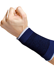 Ollas Unisex Dark Blue Cotton Knitting Outdoor Fitness Elastic Wrist Support with 3D Protection A Pair S9206