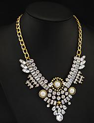 Work Alloy/Cubic Zirconia Pendant Necklace