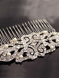 Vintage Bella Vintage Rhinestone/Crystal/Diamomd Pearls Wedding Hair Comb For Bridal