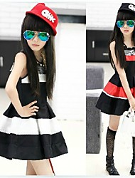 Girl's Polyester Dress , Summer Sleeveless
