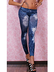 Women Denim Legging , Cotton Blends/Polyester Thin
