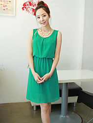 Women's Green Dress , Sexy/Casual/Party/Work Sleeveless