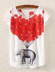 Women's Multi-color T-shirt Short Sleeve
