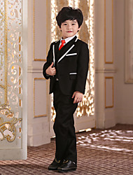 Ring Bearer Black Uniform Cloth Suit