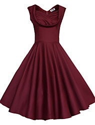 Maggie Tang Women's 50s Vintage Rockabilly Hepburn Pinup Swing Dress,Plus Size