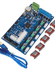 Keyes 3d принтер платы управления мкс поколения v1.2, USB линии (с a4988 с плавниками)