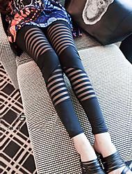 Women's Vintage Bodycon Stretchy Thin Skinny Pants (Silk Cotton)