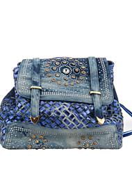 Damen - Rucksack - PU - Shopper - Blau