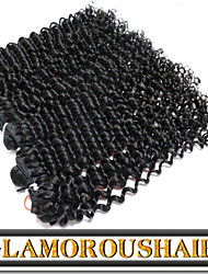 "3 Pcs/Lot 12""-30"" Mongolian Virgin Hair Color 1B Tight Curly Remy Hair Weaving"