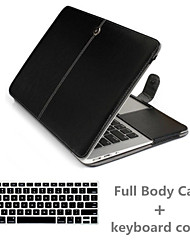 Top Quality Luxury Leather Full Body Case and TPU Keyboard Cover for Macbook Air 13.3 inch (Assorted Colors)