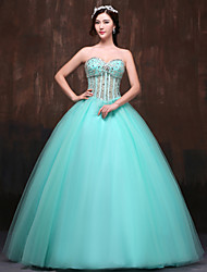 Formal Evening Dress Ball Gown Sweetheart Floor-length Satin/Tulle/Polyester