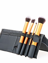 New 4in1 Top Grade Professional Makeup Brushes Brush Core Collection 4 Brush Kit-Golden