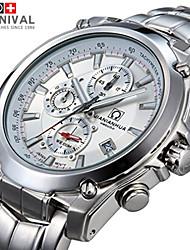 JIANIANHUA Watches Multifunctional Men's Chronograph Black Mens Waterproof Eye Three Luminous Strip Watch