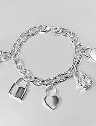 prata banhado ocasional link / cadeia de venda da promoção pulseira pulseira amor carter