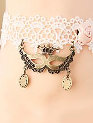 mulheres moda jóias corpo praia verão encanto estilo gótico do vintage do laço ocasional tornozeleiras máscara rainha