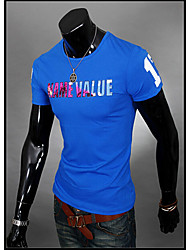 Vintage/Informell/Party/Business Kurzarm - MEN - T-Shirts ( Baumwolle/Kunstseide )
