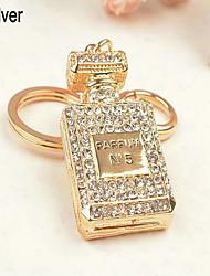 Perfume Bottle Rhinestone Keychain