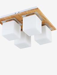 Flush Mount Mini Style Modern/Contemporary Living Room / Bedroom / Kitchen / Study Room/Kids Room Wood/Bamboo