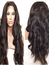 Wavy Front Lace Human Hair Wigs  Brazilian Virgin Hair Cheap Wigs 130% Density