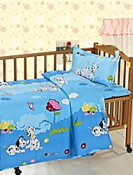 Boy Baby Crib Bedding Set Blue 100% Cotton