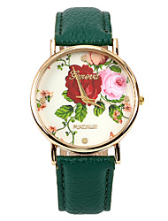 Colour Rose Women PU Leather Band   Wristwatch(Green)(1Pcs) Cool Watches Unique Watches