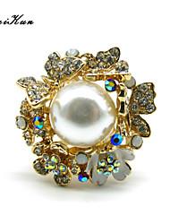 Maikun Scarf Ring Flower Butterfly Brooch Circle Pearl  Rhinestone Scarf Jewelry