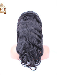 "10""-26"" Glueless Lace Front Wig Body Wave Brazilian Virgin Hair Color Natural Black Baby Hair for Black Women"