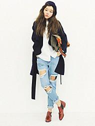 Women's Loose Hole Jeans