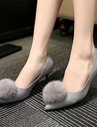 Women's Shoes Black/Grey Stiletto Heel 0-3cm Pumps/Heels (Rubber)