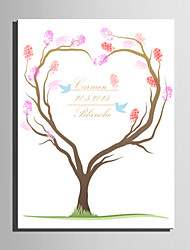 E-HOME® Personalized Fingerprint Painting Canvas Prints - Love tree (Includes 12 Ink Colors)