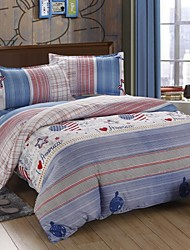 Mingjie Blue Lines USA Style Bedding Sets 4pcs Duvet Cover Sets Bed Linen China Queen Size and Full Size