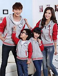 Long Sleeve Polyester Family Clothing Sets , Winter/Fall Jacket & Coat