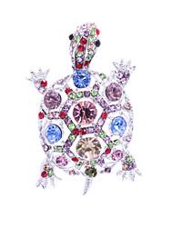 Women's Jewelry Animal Turtle  Brooch Broach Pins Rhinestone Crystal (More Colors)