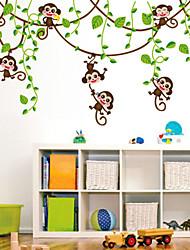 decalques de parede adesivos de parede, desenhos animados hip-hop macaco pvc adesivos de parede
