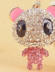 Bear Rhinestone Wedding Keychain Favor
