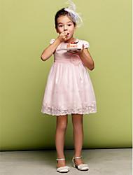 Цветочница платье - Трапеция/Принцесса Мини-платье Короткие Тюль