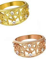 Two colors Exaggerated Ring Vintage/Cute/Party/Work/Casual Gold Plated/Rose Gold Plated/Cubic Zirconia