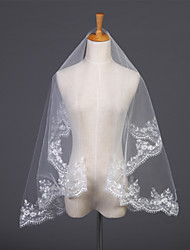 Wedding Veil One-tier Elbow Veils Lace Applique Edge