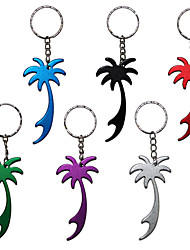 Palm Tree Metal Bottle Opener Keyring Key Chain Key Ring 1pc (Random Color)