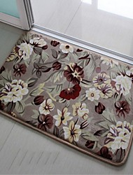 Home Family  Flower Pattern Floor Slip-Resistant Set Bath Mats