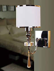 White Modern Brief Fashion Wall Lamp Crystal Bedside Wall Lamp Mirror Light Bedroom Wall Lamp