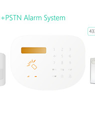 GSM+PSTN Home Burglar Alarm System GS-S2 Words LCD Display for Easily Operation